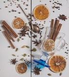 Uppsättningen av kryddor för framställning av funderat vin Royaltyfri Bild