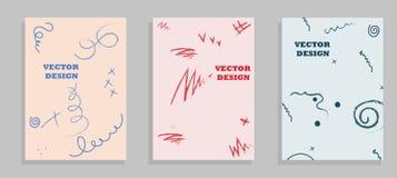 Uppsättningen av linjer för mall för vektor för broschyrreklambladdesign geometriska och ljus gör sammandrag bakgrunder royaltyfri illustrationer