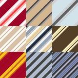 Uppsättningen av mönstrar i en diagonal remsa Arkivbilder