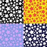 Uppsättningen av mönstrar med stjärnor Arkivfoto