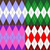 Uppsättningen av mönstrar wiyhrhombuses Royaltyfria Bilder