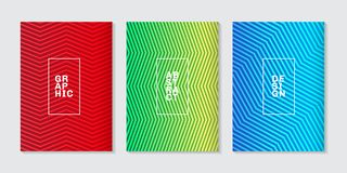 Uppsättningen av minsta räkningar för bakgrund planlägger den abstrakta kalla rastrerade lutninglinjen modell Framtida geometrisk vektor illustrationer