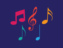 Uppsättningen av musik noterar vektorn Royaltyfri Foto