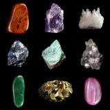 Uppsättningen av olik mineral vaggar och stenar Royaltyfri Bild