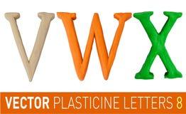 Uppsättningen av plasticine märker engelskt alfabet vektor illustrationer