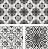 Uppsättningen av rektangeln och fyrkanten bildar dekorativa modeller Royaltyfri Fotografi