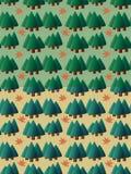 Uppsättningen av sömlöst sörjer trädmodellen royaltyfri illustrationer