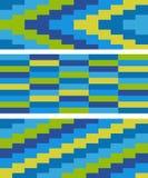 Färga mosaiken mönstrar Fotografering för Bildbyråer