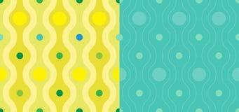 Seamless färga wallpaperen mönstrar Arkivfoton