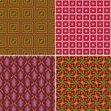 Uppsättningen av seamless mönstrar 9 Arkivfoton