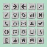 Uppsättningen av socialt massmedia knäppas för designen - symboler Arkivbild
