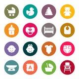 Uppsättningen av symboler behandla som ett barn på omsorgtemat för din design stock illustrationer