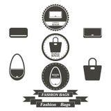 Uppsättningen av tappning hänger löst fashionably logoer, emblem och beståndsdelar Royaltyfri Bild