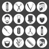 Uppsättningen av tappningbarberaren shoppar symboler Arkivbilder