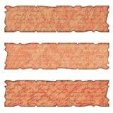 Uppsättningen av tre som text boxas i gammalt, utformar Royaltyfri Bild
