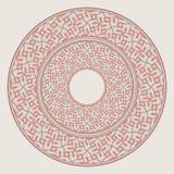 Uppsättningen av två plattor bygga bo in i de, spets- rund prydnad royaltyfri illustrationer