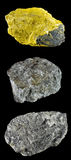 Uppsättningen av vaggar och mineraler â2 Fotografering för Bildbyråer