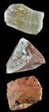 Uppsättningen av vaggar och mineraler â4 Royaltyfria Bilder