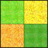 Uppsättningen av vektorn mönstrar av färgrik mosaik. Arkivbilder