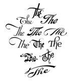 ` Uppsättningen för `-rubriktypografi för intros, etc. Vektor Illustrationer