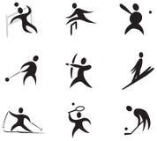 Sportsymbolsuppsättningen numrerar 3 Royaltyfri Bild