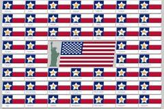 Uppsättningen som består av flaggan av Amerikas förenta stater, t Royaltyfri Fotografi