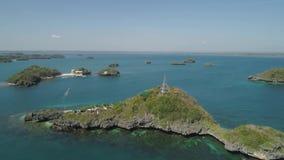 Upps?ttning av ?ar i havet philippines stock video
