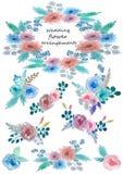 Upps?ttning av blom- ordningar royaltyfria bilder