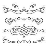 Upps?ttning av calligraphic karakt?rsteckningar f?r tappning stock illustrationer