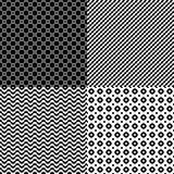 Upps?ttning av s?ml?sa abstrakta geometriska modeller royaltyfri illustrationer