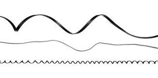 Upps?ttning f?r h?lighet f?r kabel f?r svart makt som isoleras p? vit bakgrund arkivfoto
