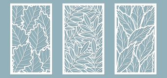 Upps?ttning Sidor ek, rönn, aska Mallar i form av rektangel abstrakt frambragd bildrektangel f?r bakgrund dator Vektorillustratio stock illustrationer