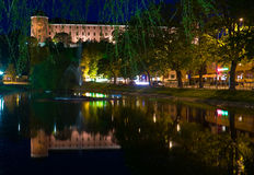 Uppsala castle. The former royal castle of Uppsala, Sweden, reflected in the Swan pond. Uppsala is the main university city of Sweden. The construction of the Stock Photos