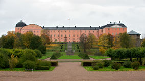 Uppsala Castle, Sweden. Uppsala Castle (1547, 1740) and its baroque garden from 1750, both designed by Carl HÃ¥rleman stock photo