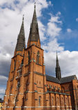 Uppsala Cathedral Stock Image
