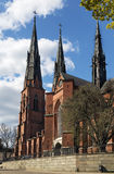 Uppsala Cathedral Stock Photography