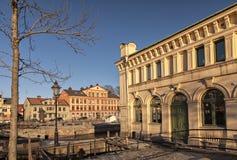 Uppsala door de rivier Stock Fotografie