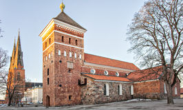 Uppsala Holy trinity church Royalty Free Stock Images