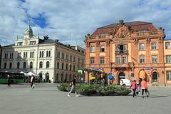 Uppsala huvudsaklig fyrkant arkivbild