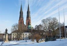 Uppsala por invierno Fotografía de archivo libre de regalías