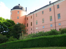 Uppsala Roszuje historyczny miejsce na wzgórzu, Uppsala fotografia royalty free