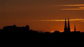 Uppsala Skyline Royalty Free Stock Image