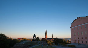 The Uppsala sunrise Royalty Free Stock Images