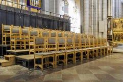 UPPSALA SZWECJA, AUG, - 23,2014: Katedra datuje z powrotem 13th c póżno fotografia royalty free