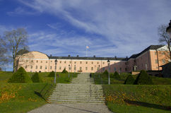 Uppsala 16th århundradeslott i höst Arkivbild