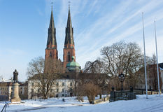 Uppsala by winter Royalty Free Stock Photography
