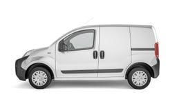 Uppsamlingsbil på vit bakgrundsåtlöje upp Fotografering för Bildbyråer