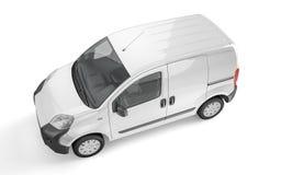 Uppsamlingsbil på vit bakgrundsåtlöje upp Arkivfoto