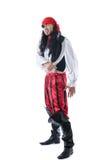 Uppsluppen man som kläs som, piratkopierar för karneval Fotografering för Bildbyråer