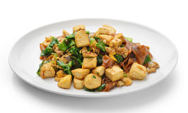 Uppståndelse Fried Rice Noodle med tofuen Arkivbild